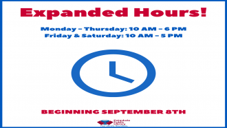 We have expanded hours